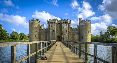 Bodiam Castle in East Sussex, Engeland