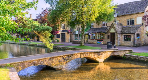 Bourton on the Water in the Cotswolds, Engeland
