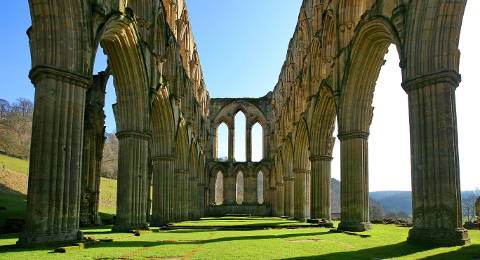 Rievaulx Abbey in Yorkshire