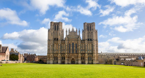 Wells Cathedral in Somerset, Engeland