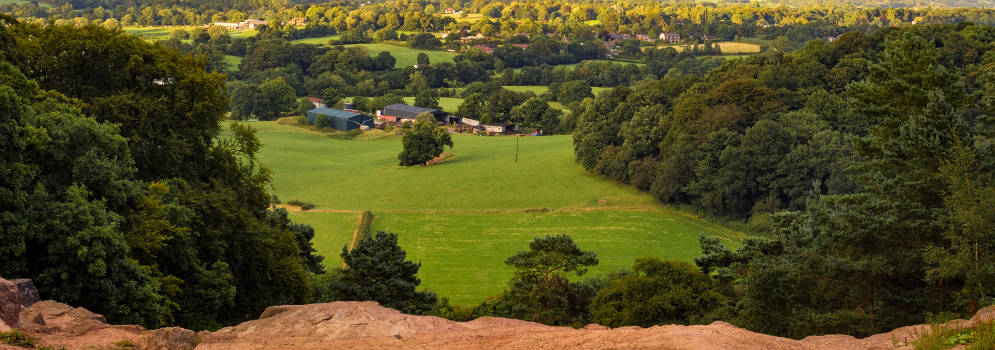 Alderley Edge in Cheshire, Engeland