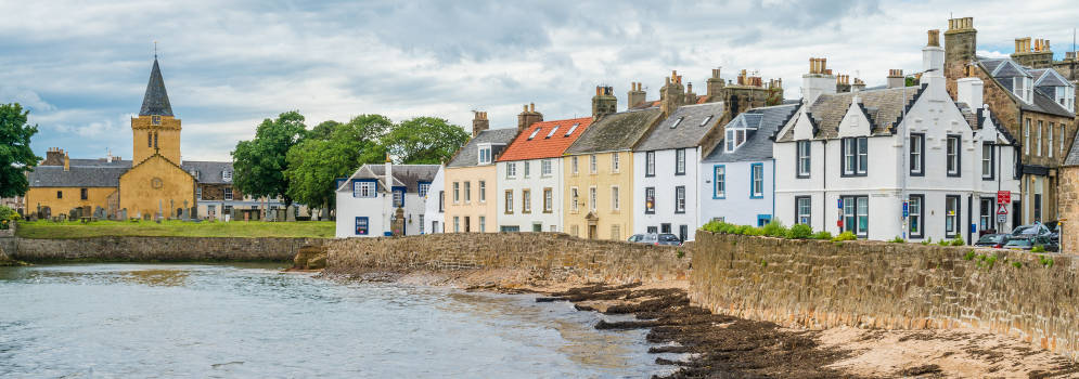 Het kustdorpje Anstruther in Fife, Schotland