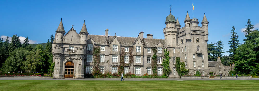 Balmoral Castle in Deeside, in Schotland