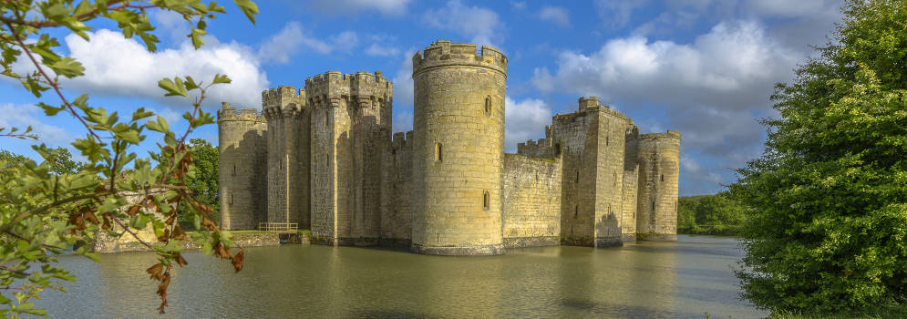 Bodiam Castle in de High Weald