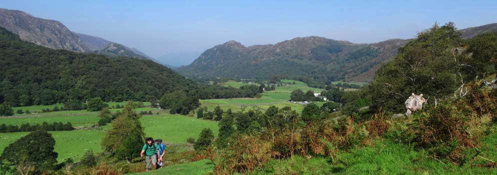 Borrowdale in het Lake District, Cumbria