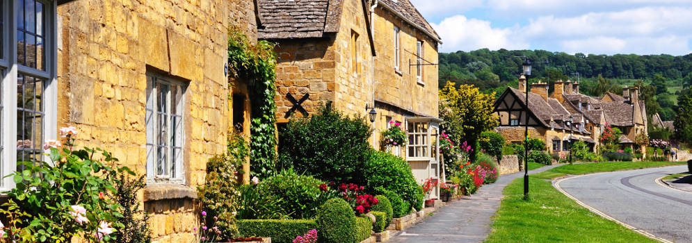Broadway in de Cotswolds, Engeland