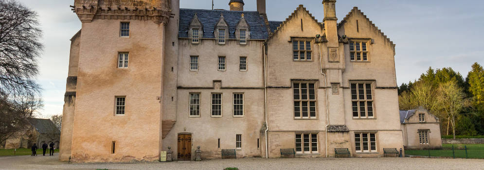 Brodie Castle in Moray, in Schotland