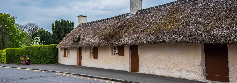 Burns Cottage in Alloway, Schotland