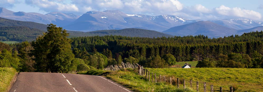 Cairngorms in Perth and Kinross, Schotland