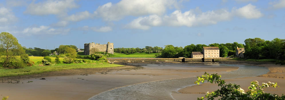 Carew Castle in Zuidwest Wales