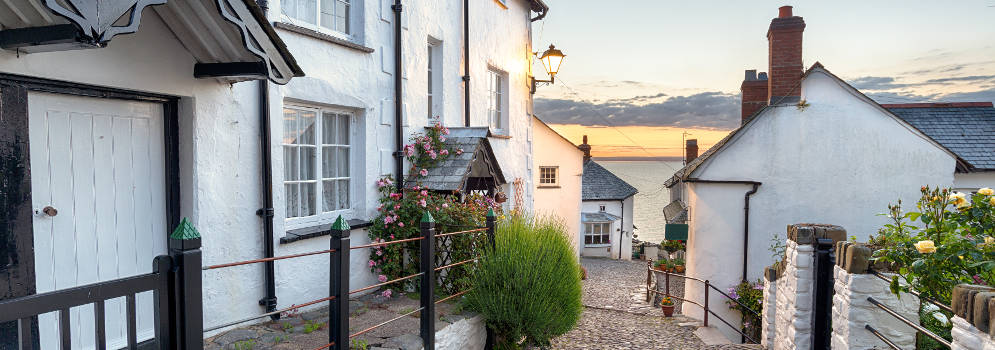 Het pittoreske kustdorp Clovelly in North Devon, Engeland