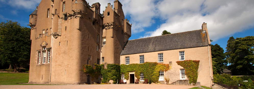 Crathes Castle in Aberdeenshire, Schotland