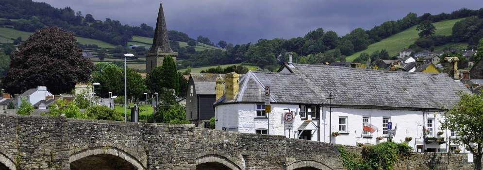 Crickhowell in de Brecon Beacons, Wales