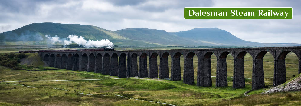 Dalesman Steam Railway in de Yorkshire Dales, Engeland