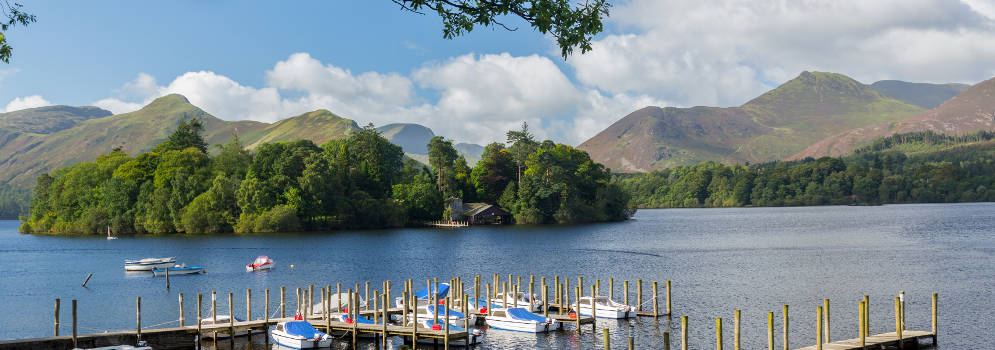 Derwentwater bij Keswick in het Lake District, Cumbria