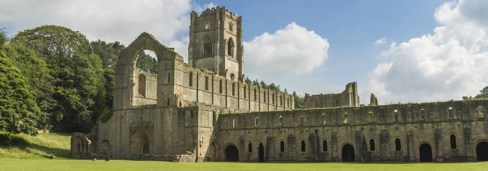Fountains Abbey in North Yorkshire, Engeland