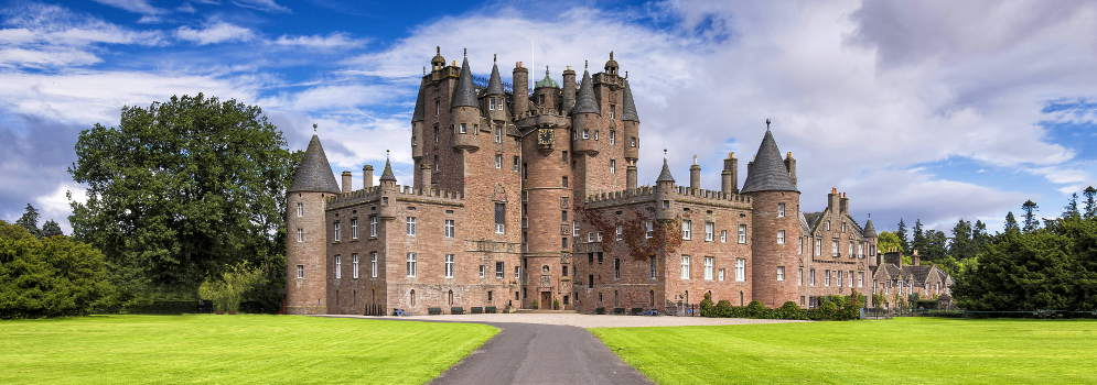Glamis Castle in Angus, Schotland