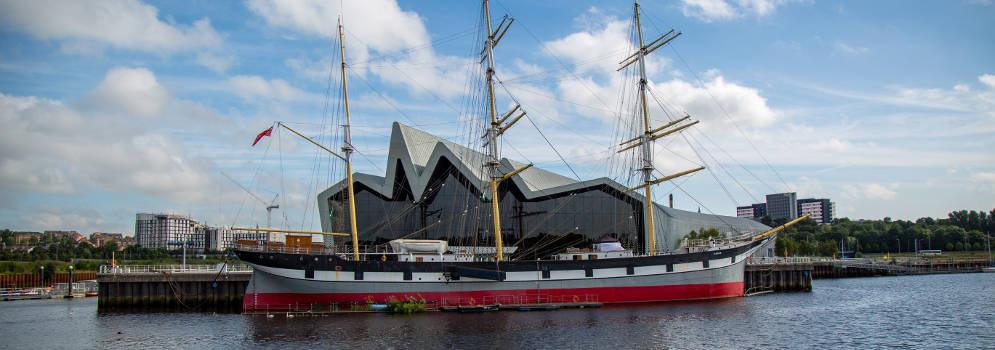 Het Riverside Museum en het Tall Ship in Glasgow, Schotland