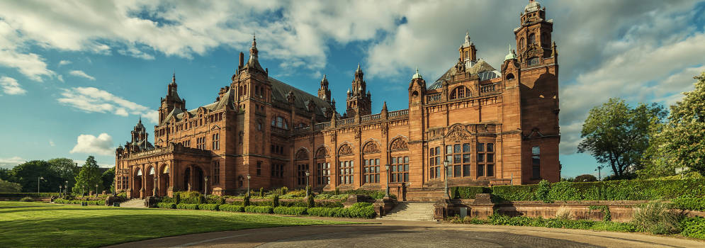 Kelvingrove Art Gallery and Museum in Glasgow, Schotland