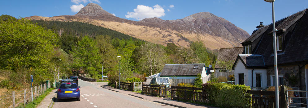 Glencoe in de Highlands van Schotland