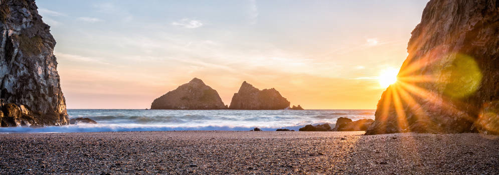 Holywell Beach in Cornwall