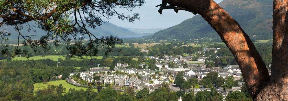 Keswick in het Lake District, Cumbria