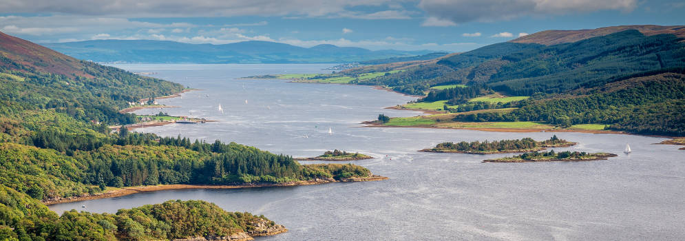 Kyles of Bute in Argyll and Bute, Schotland