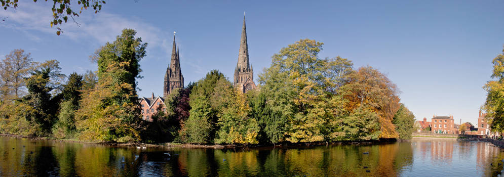 Lichfield Cathedral in Staffordshire
