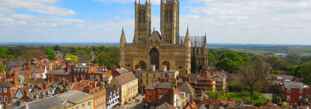 Lincoln Cathedral in Lincolnshire, Engeland