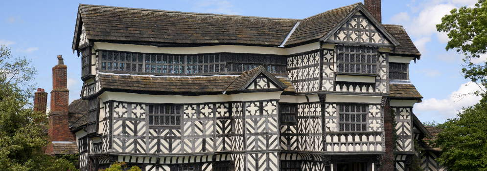 Little Moreton Hall in Cheshire, Engeland