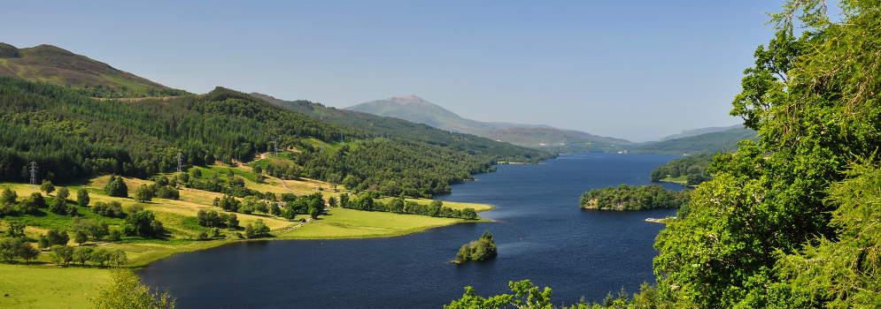 Loch Tummel in Perth and Kinross, Schotland