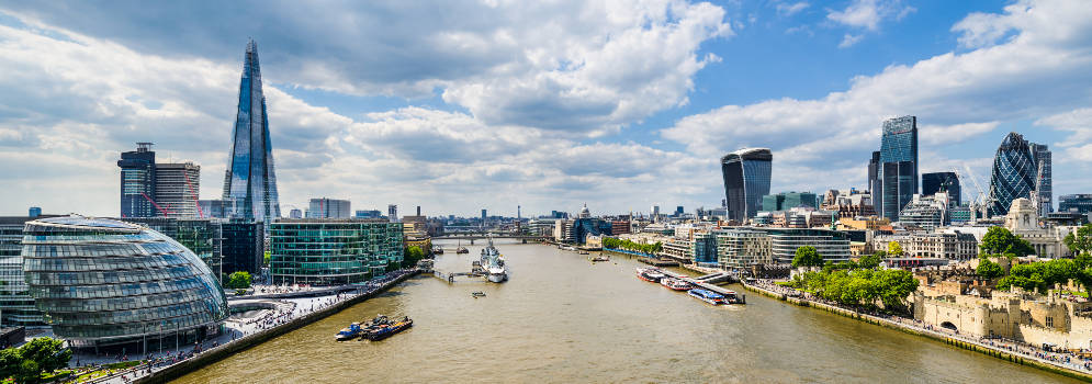 City of London en de Theems
