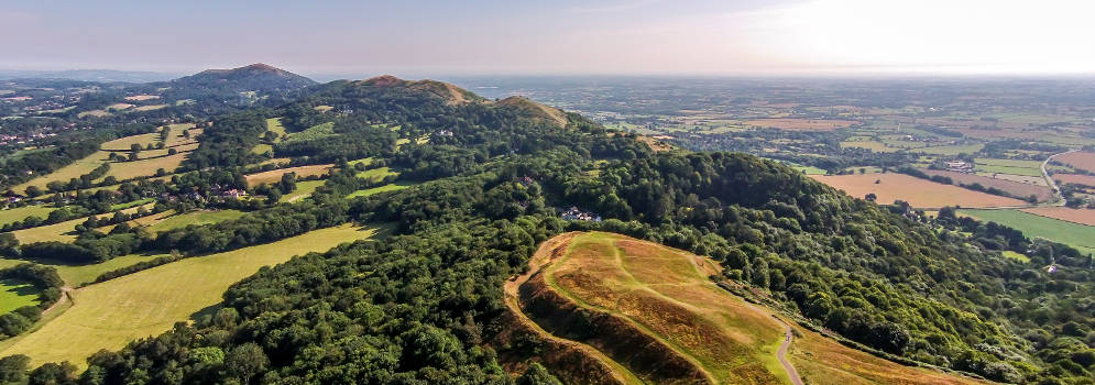 Malverns Hills in Herefordshire, Engeland