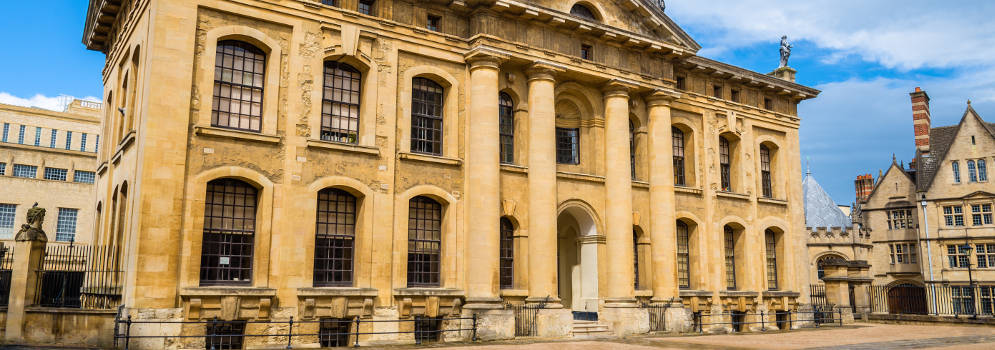 Clarendon Building in Oxford, Engeland
