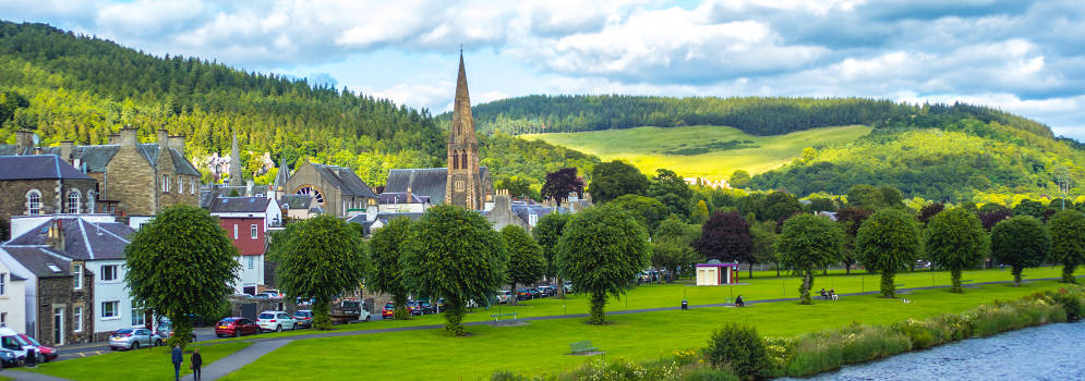 Peebles in de Scottish Borders, Schotland