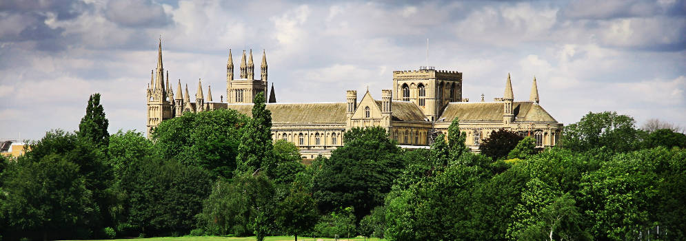 Peterborough Cathedral in Cambridgeshire