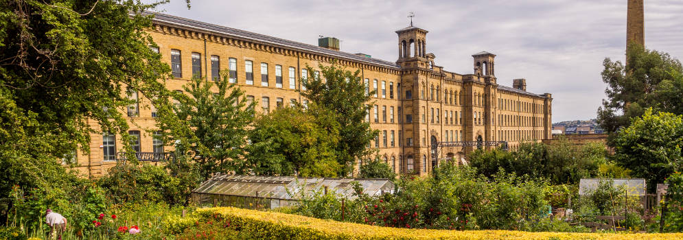 Salts Mill in Saltaire, Engeland