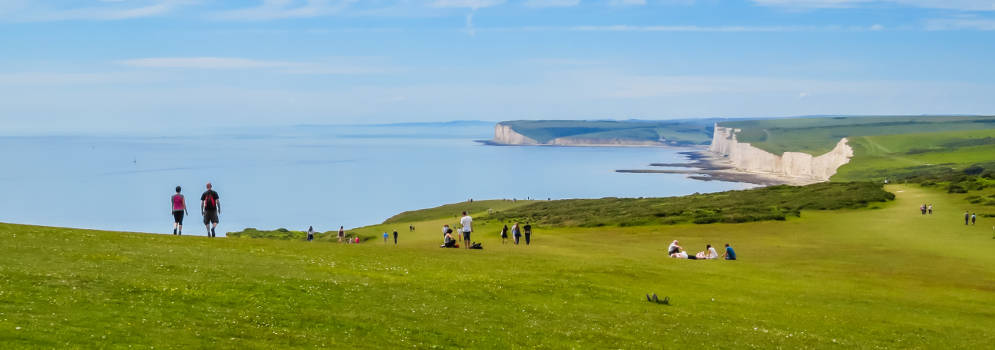 Seven Sisters in de South Downs, Engeland