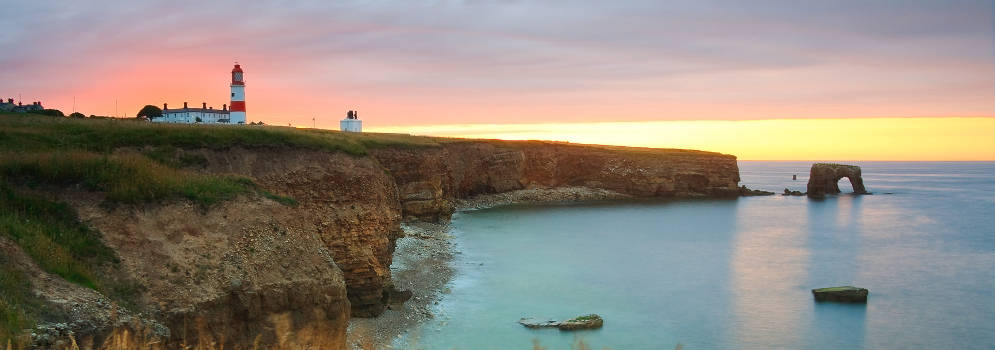Souter Lighthouse in Noord Engeland