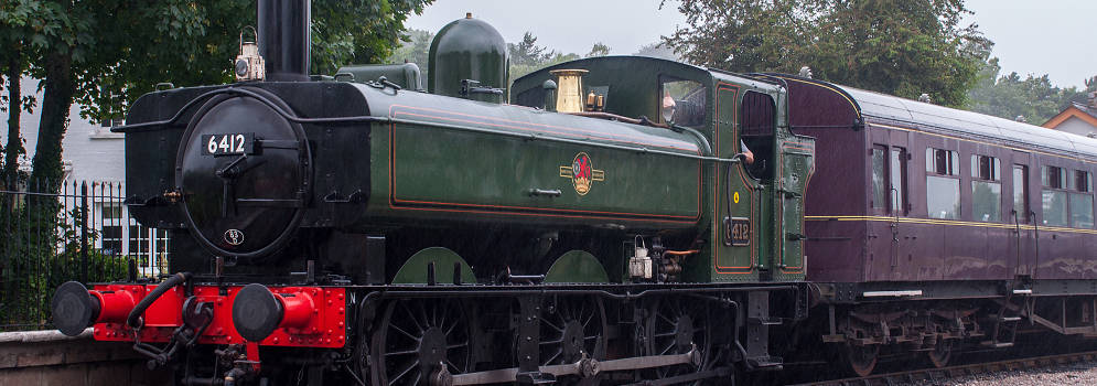 Stoomtrein van de South Devon Railway in Engeland