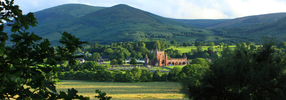 Sweetheart Abbey in Dumfries and Galloway, Schotland