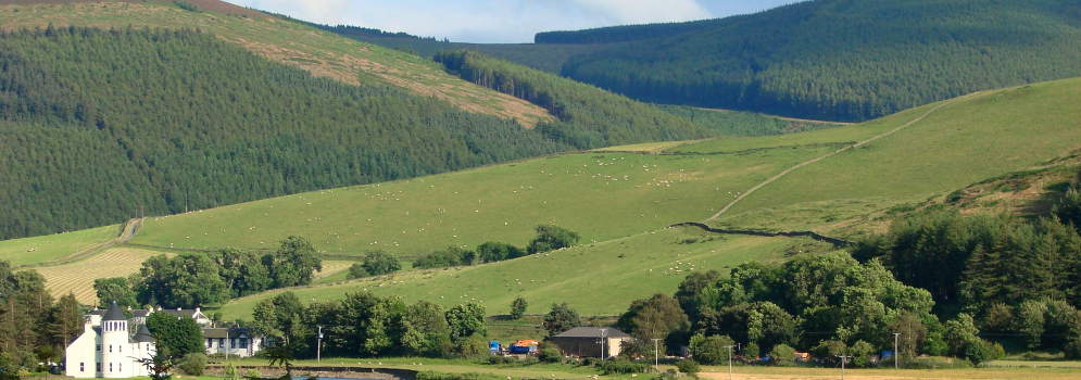 Upper Tweeddale in de Scottish Borders, Schotland