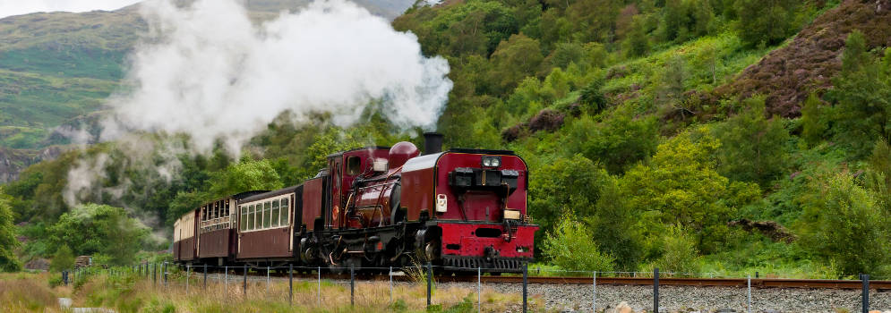 Welsh Highland Railway in Snowdonia, Wales
