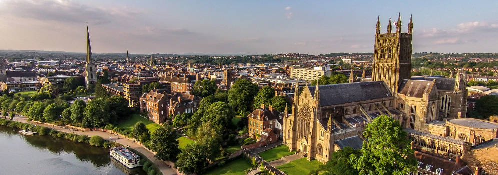 Worcester Cathedral in Engeland