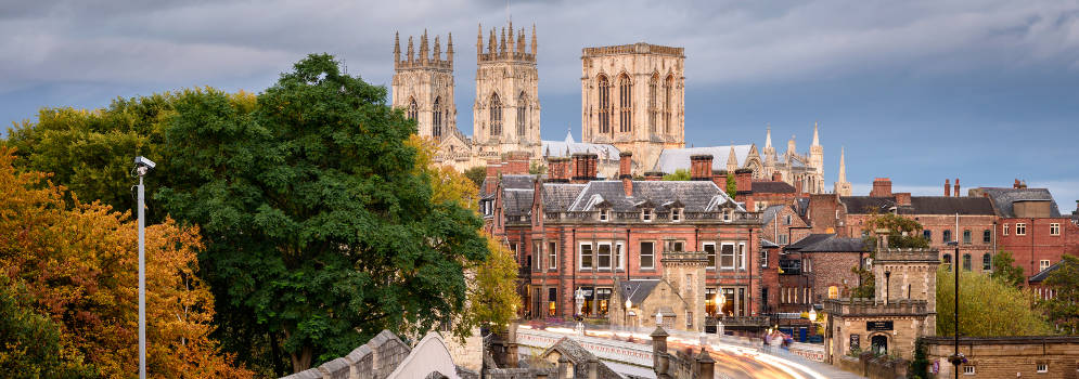 De stad York in North Yorkshire